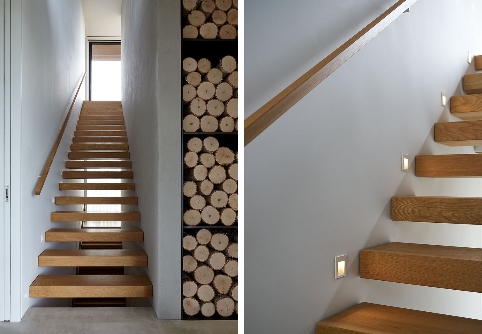wood stair detail rough modern