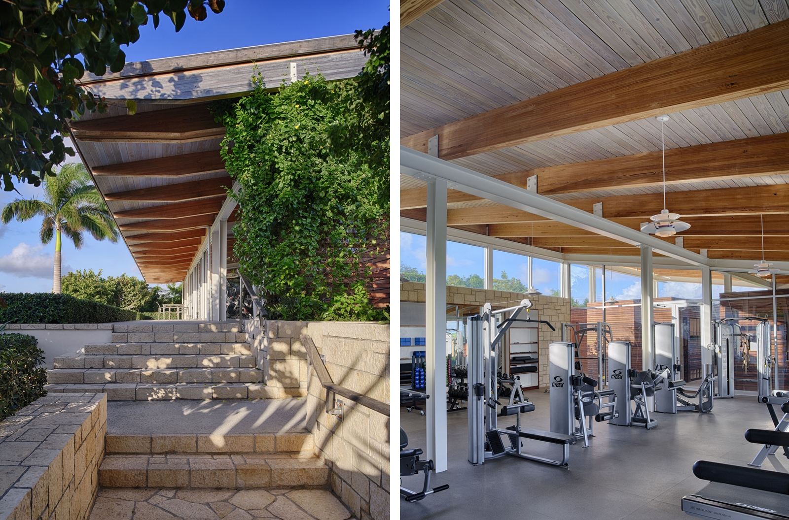 deck, ceiling, exercise, gym