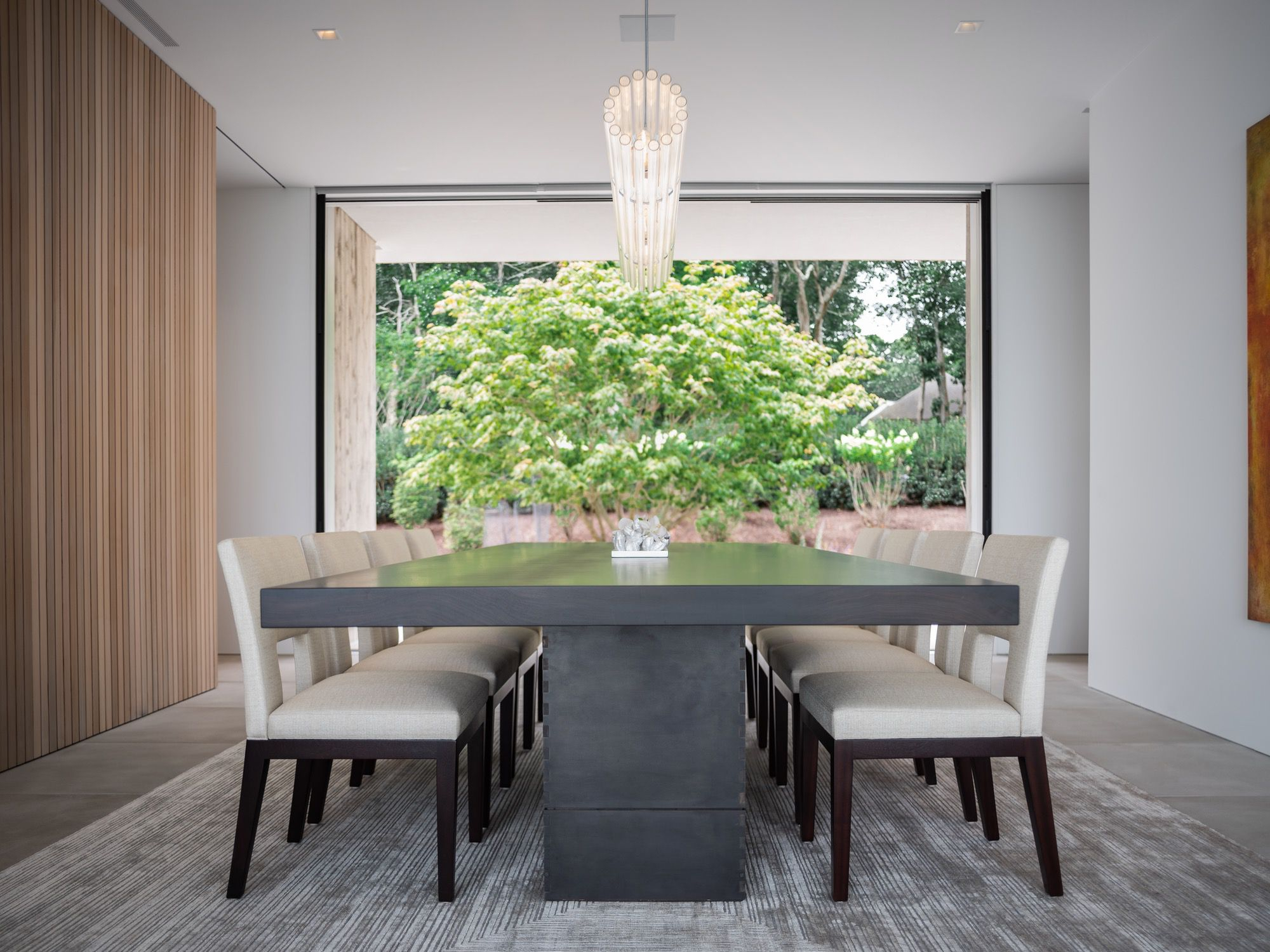 SLR Architects House On The Bluff Modern Dining Room