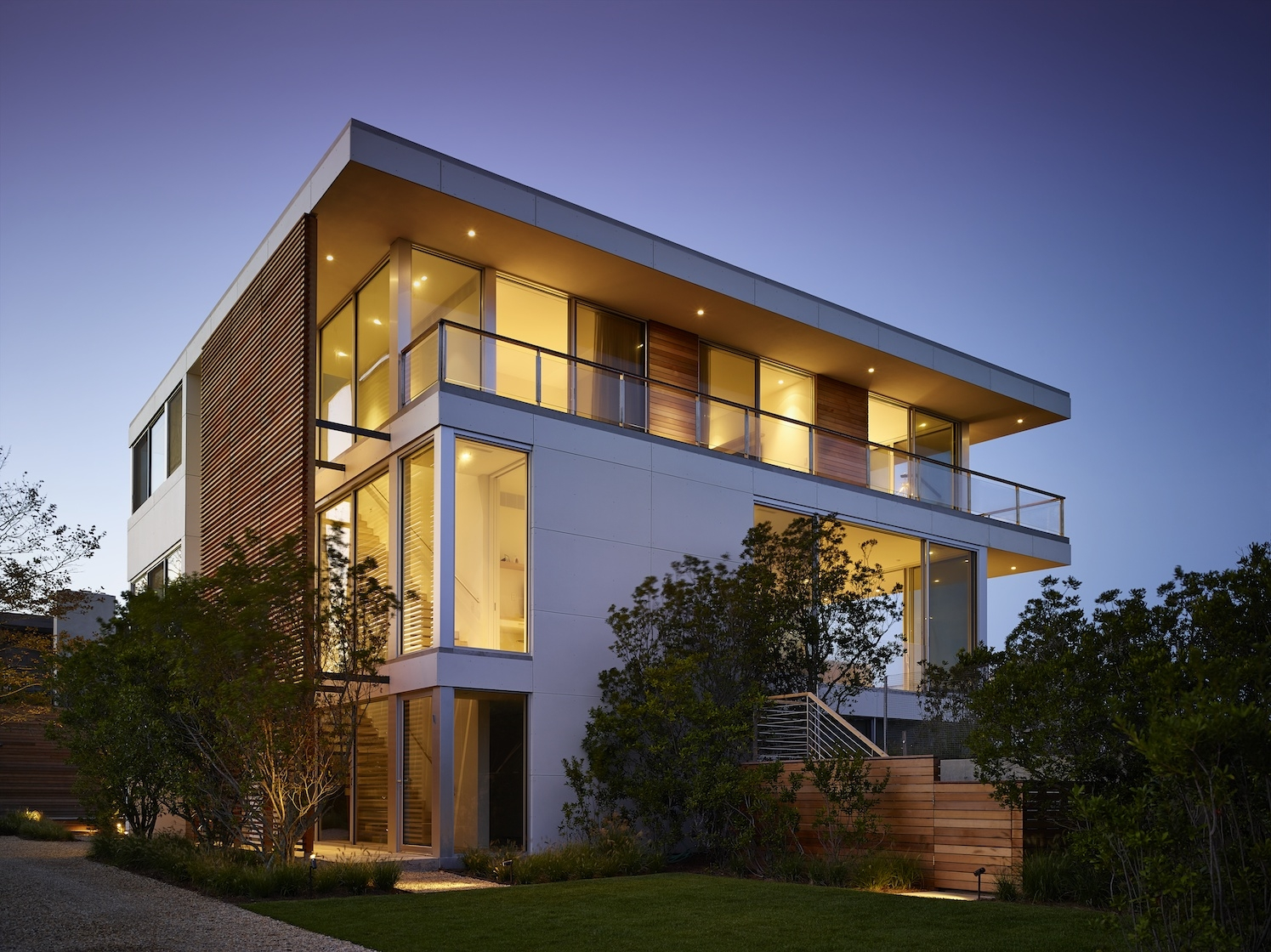 Flying Point, Water Mill, NY Modern House Exterior