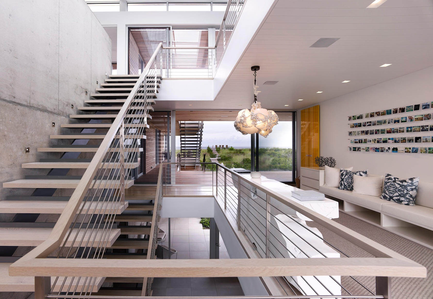 Bridgehampton, NY modern house interior stairs