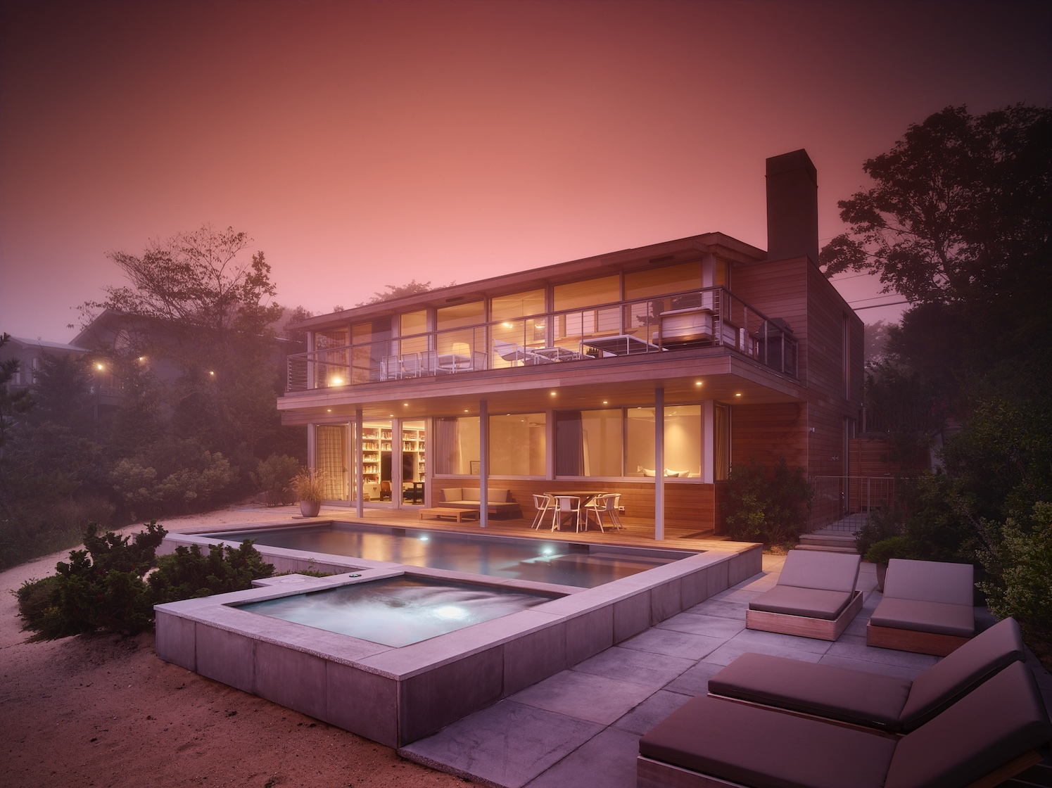 Amagansett Modern Residence Deck and Pool