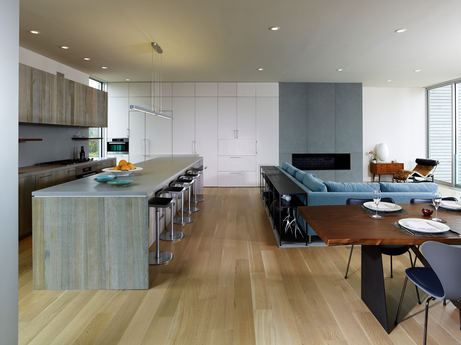 Water Mill, NY modern house interior design kitchen