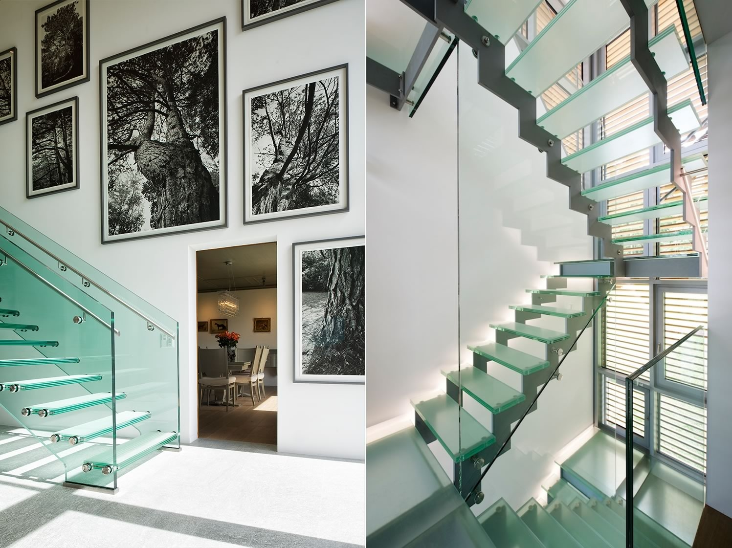 Glass stairwell