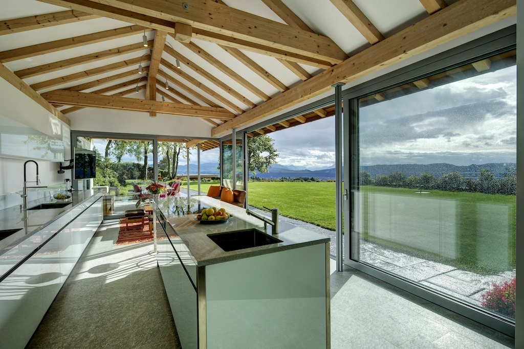 Outdoor kitchen in Swiss House