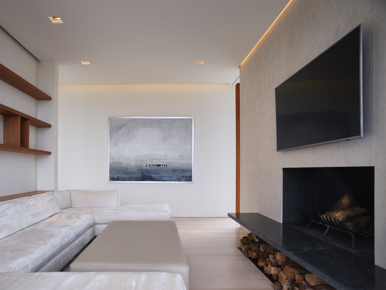 TV room - Interior Design by Stelle Lomont Rouhani