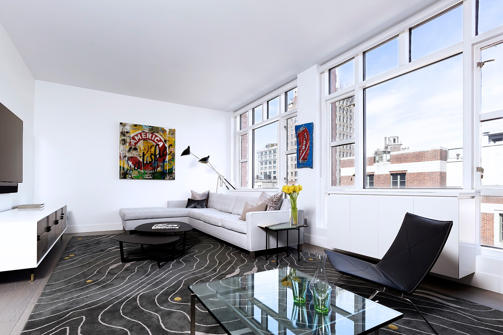 Modern New York City Apartment Interior Design Living Room