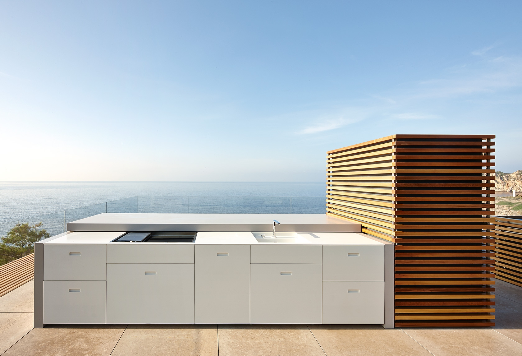 Mallorca Spain Modern House Outdoor Kitchen