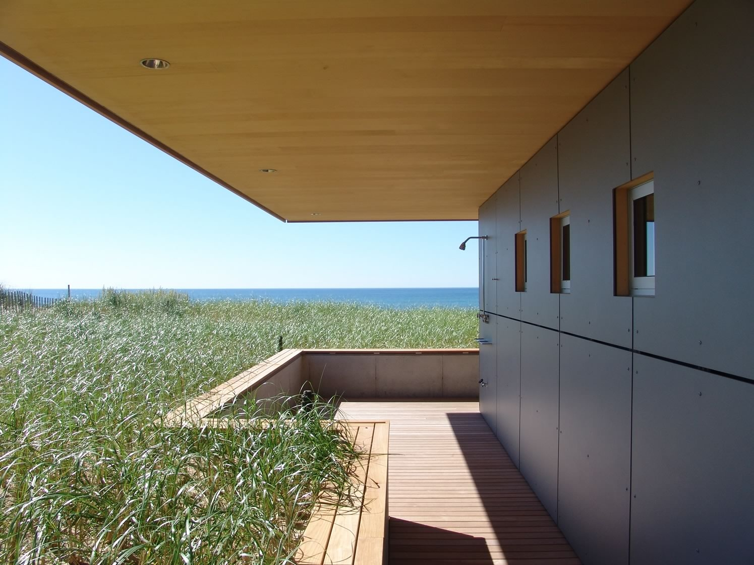 Bridgehamton, NY Surfside Modern Residence On the Ocean Outdoor Shower